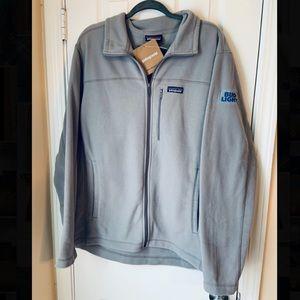 Patagonia bud light fleece full zip jacket